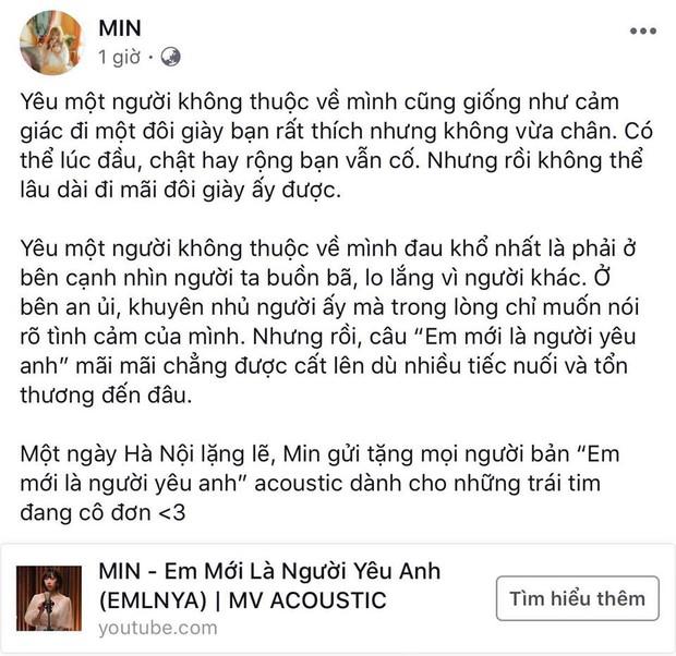 """Min bất ngờ tung MV cho phiên bản Acoustic của """"Em mới là người yêu anh"""" - Ảnh 2."""