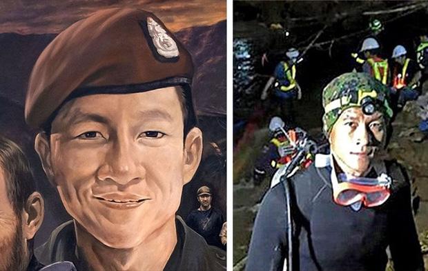 Ảnh: Bức bích họa lớn tôn vinh các anh hùng giải cứu đội bóng Thái Lan - Ảnh 3.