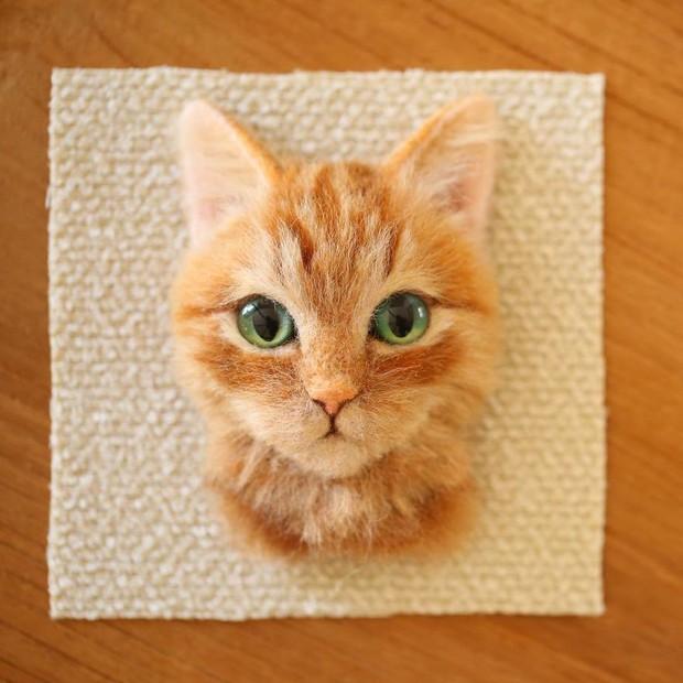 Chỉ bằng những sợi len, các nghệ nhân Nhật Bản đã tạo ra những chú mèo bông y chang ngoài đời - Ảnh 4.