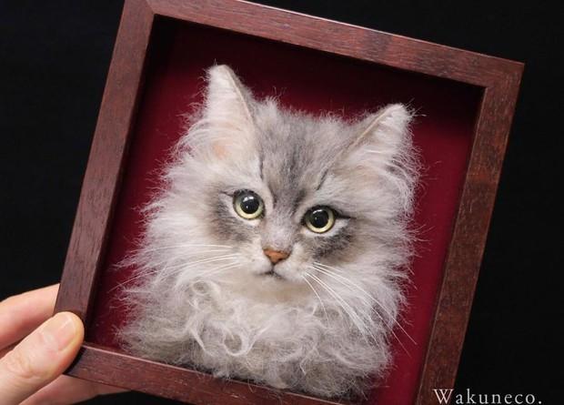 Chỉ bằng những sợi len, các nghệ nhân Nhật Bản đã tạo ra những chú mèo bông y chang ngoài đời - Ảnh 6.