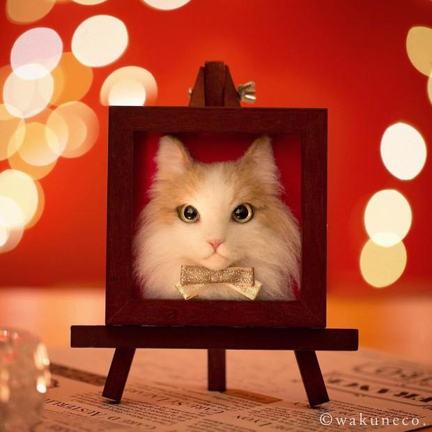 Chỉ bằng những sợi len, các nghệ nhân Nhật Bản đã tạo ra những chú mèo bông y chang ngoài đời - Ảnh 7.