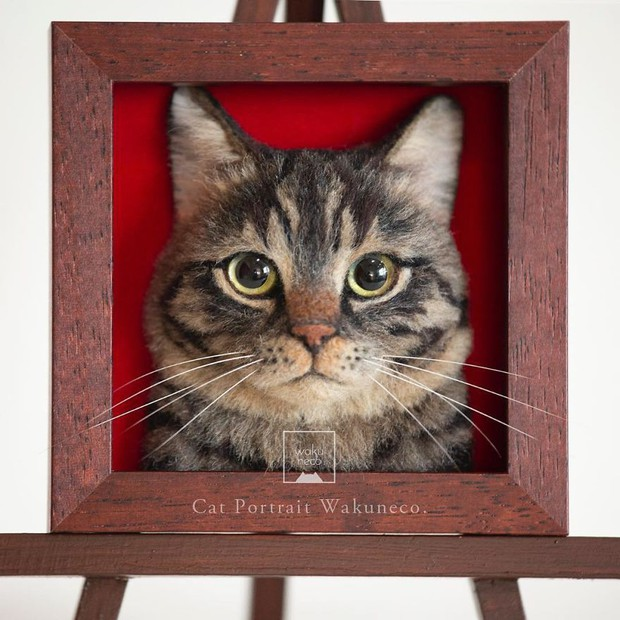 Chỉ bằng những sợi len, các nghệ nhân Nhật Bản đã tạo ra những chú mèo bông y chang ngoài đời - Ảnh 9.