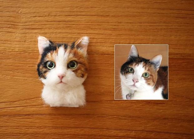 Chỉ bằng những sợi len, các nghệ nhân Nhật Bản đã tạo ra những chú mèo bông y chang ngoài đời - Ảnh 10.