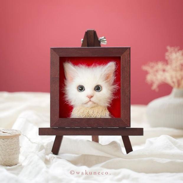 Chỉ bằng những sợi len, các nghệ nhân Nhật Bản đã tạo ra những chú mèo bông y chang ngoài đời - Ảnh 11.