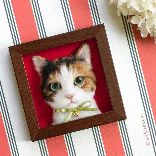 Chỉ bằng những sợi len, các nghệ nhân Nhật Bản đã tạo ra những chú mèo bông y chang ngoài đời - Ảnh 12.