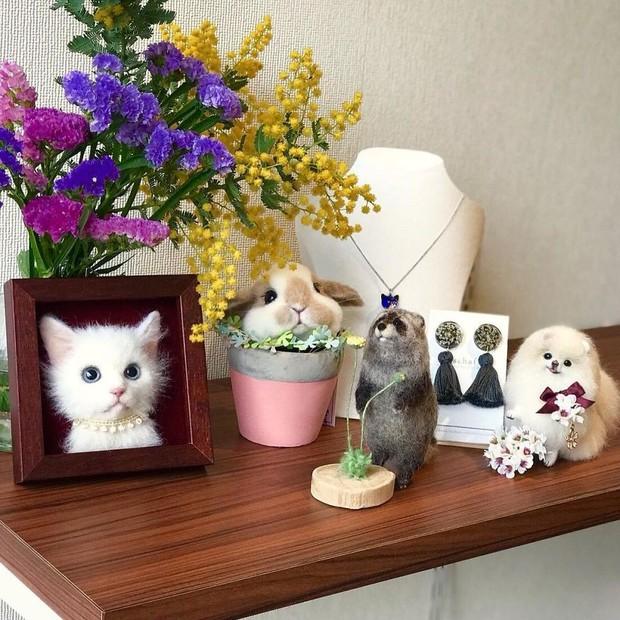 Chỉ bằng những sợi len, các nghệ nhân Nhật Bản đã tạo ra những chú mèo bông y chang ngoài đời - Ảnh 13.