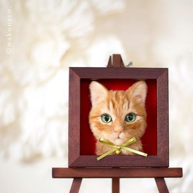 Chỉ bằng những sợi len, các nghệ nhân Nhật Bản đã tạo ra những chú mèo bông y chang ngoài đời - Ảnh 14.