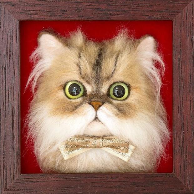 Chỉ bằng những sợi len, các nghệ nhân Nhật Bản đã tạo ra những chú mèo bông y chang ngoài đời - Ảnh 15.