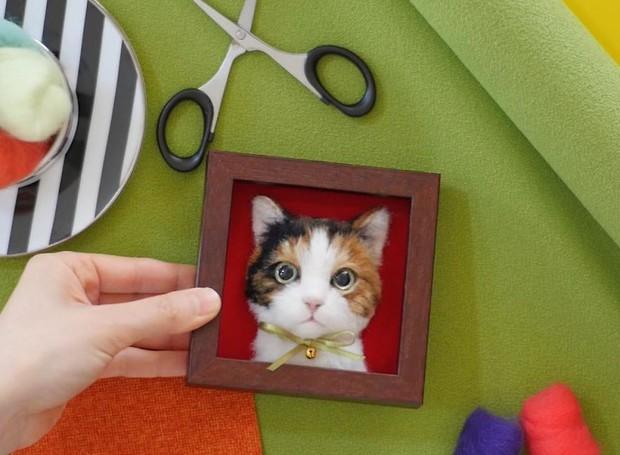 Chỉ bằng những sợi len, các nghệ nhân Nhật Bản đã tạo ra những chú mèo bông y chang ngoài đời - Ảnh 16.