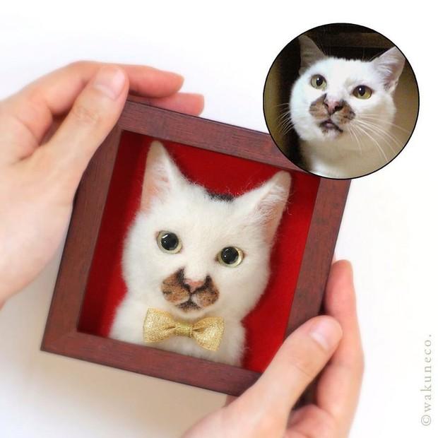 Chỉ bằng những sợi len, các nghệ nhân Nhật Bản đã tạo ra những chú mèo bông y chang ngoài đời - Ảnh 17.