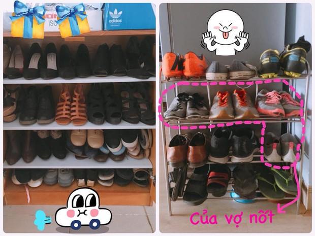 Nhìn sự chênh lệch giữa tủ giày của vợ và chồng mới thấy phụ nữ quả thật quá phức tạp! - Ảnh 2.