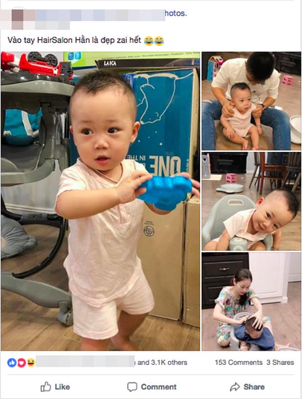 Không chỉ được chăm sóc, con trai Bella còn được hot mom Hằng Túi tự tay cắt tóc, tân trang ngoại hình - Ảnh 1.