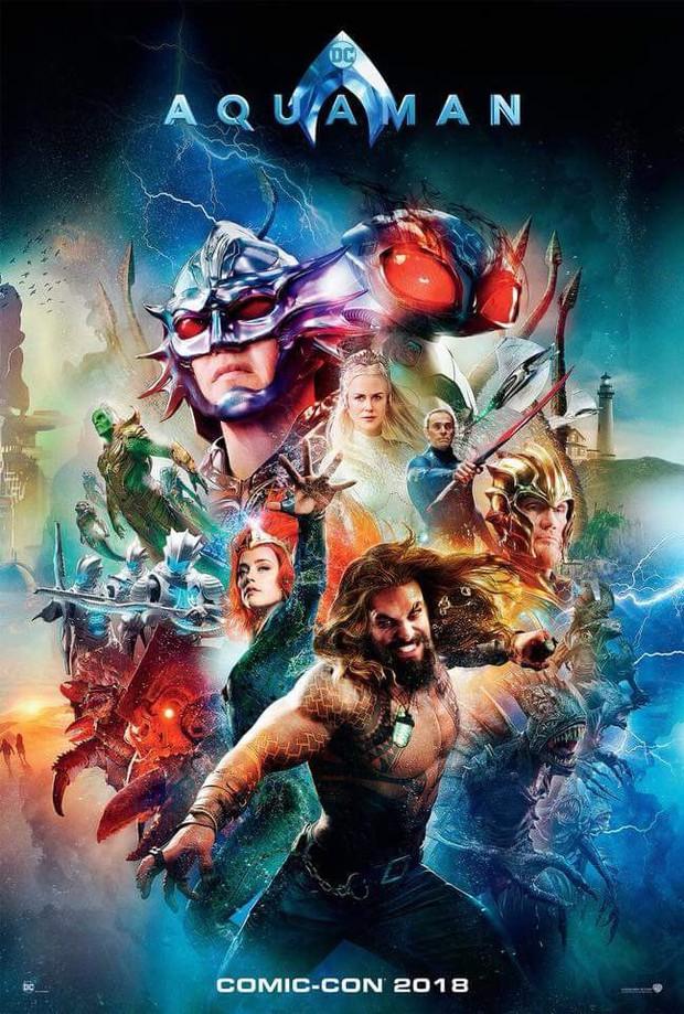 Vẫn chưa thoát kiếp bị chế, thêm một poster Aquaman bị sỉ là màu mè như... 5 anh em siêu nhân - Ảnh 1.