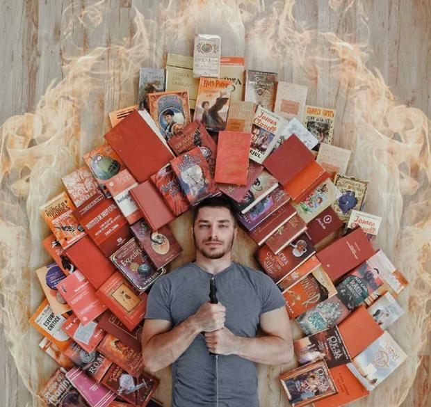 Chàng trai Mỹ biến cả tủ sách thành những khung cảnh giả tưởng trong phim khiến cả thế giới kinh ngạc - Ảnh 16. Chàng trai Mỹ biến cả tủ sách thành những khung cảnh giả tưởng trong phim