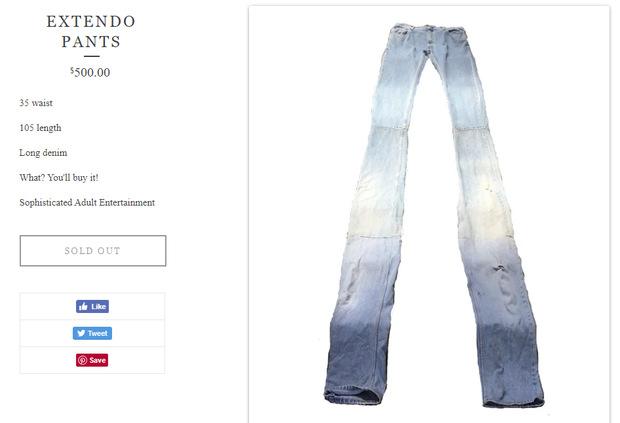 Quần jeans dài hơn thuổng đến dân bóng rổ cũng phải khóc thét, giá 11,5 triệu VNĐ tưởng không ai mua mà đã sold out - Ảnh 4.