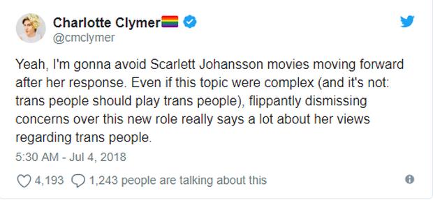 Bị ném đá vì vào vai người chuyển giới, mỹ nhân gợi tình Scarlett Johansson phản pháo - Ảnh 4.