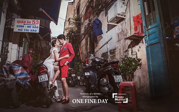 Cặp đôi nàng 46 chàng 29 ồn ào nhất showbiz Hàn khoe bộ ảnh cưới độc và lung linh như phim tại Hội An, Sài Gòn - Ảnh 1.