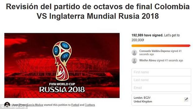 Gần 200.000 CĐV Colombia ký tên yêu cầu FIFA cho đá lại trận gặp Anh - Ảnh 3.