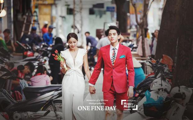 Cặp đôi nàng 46 chàng 29 ồn ào nhất showbiz Hàn khoe bộ ảnh cưới độc và lung linh như phim tại Hội An, Sài Gòn - Ảnh 3.