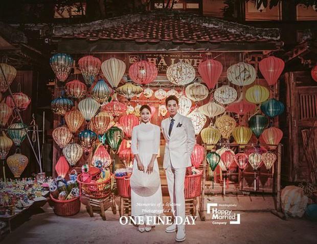 Cặp đôi nàng 46 chàng 29 ồn ào nhất showbiz Hàn khoe bộ ảnh cưới độc và lung linh như phim tại Hội An, Sài Gòn - Ảnh 5.