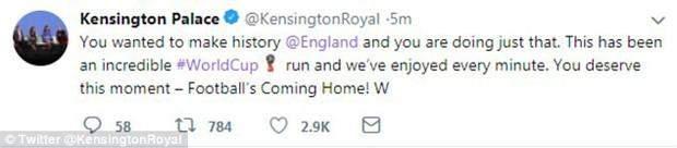 Từ Hoàng gia đến dân thường, cả nước Anh tưng bừng ăn mừng đội tuyển Anh vào bán kết World Cup sau 28 năm - Ảnh 3.