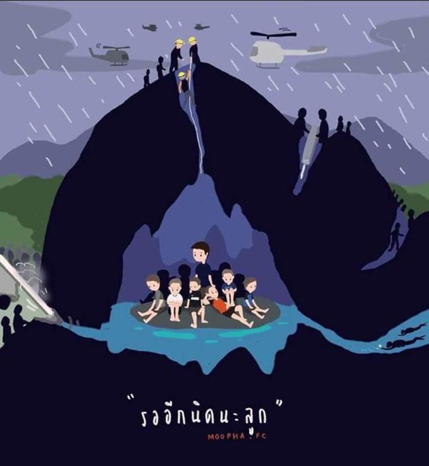 Những bức tranh dễ thương và ý nghĩa của dân mạng về hành trình giải cứu đội bóng Thái mắc kẹt - Ảnh 14.