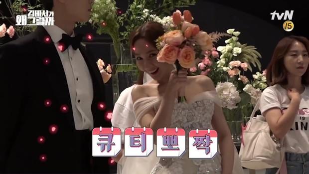 Đợi gần một tuần, fan mới được xem hậu trường đám cưới ngọt lịm của Park - Park trong Thư Ký Kim - Ảnh 2.