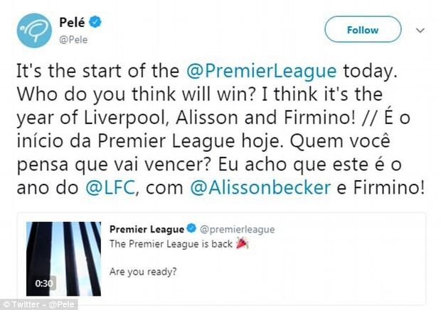Pele ra lời sấm khiến fan Liverpool rầu rĩ: Liverpool mùa này vô địch Ngoại hạng Anh - Ảnh 1.
