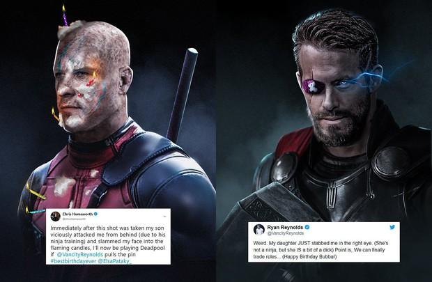 Ngay ngày sinh nhật, chàng Thor bỗng biến thành Deadpool nhờ trò nghịch dại từ con trai ruột - Ảnh 1.