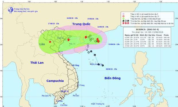 Áp thấp nhiệt đới mạnh lên thành bão, mưa lớn bao trùm Bắc Bộ - Ảnh 1.