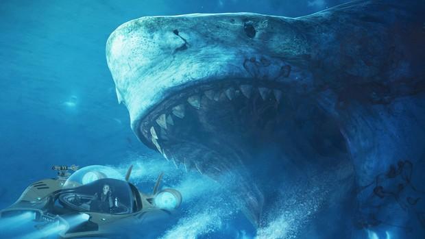 Cá mập cổ đại khổng lồ The Meg hùng bá phòng vé Mỹ cuối tuần - Ảnh 3.