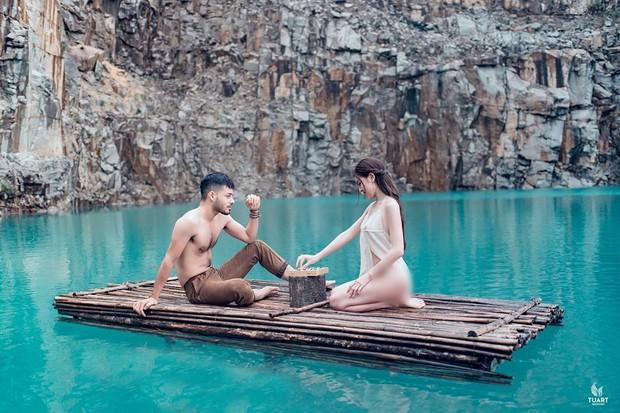 Nam người mẫu chụp cùng Á hậu Thư Dung trong bộ ảnh phản cảm tại Tuyệt Tình Cốc Đà Lạt: Tôi không lo lắng khi công an vào cuộc, vì đó là nghệ thuật - Ảnh 1.