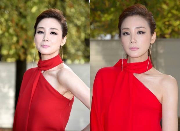 Những màn tuột dốc mỹ nhân Hàn chỉ muốn giấu nhẹm: Kẻ lộ mặt đơ cứng, tường thành bị bóc mẽ photoshop - Ảnh 5.