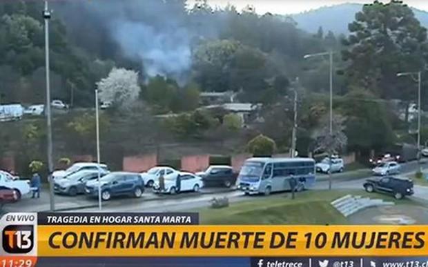 Cháy viện dưỡng lão ở Chile khiến 10 cụ già thiệt mạng - Ảnh 1.