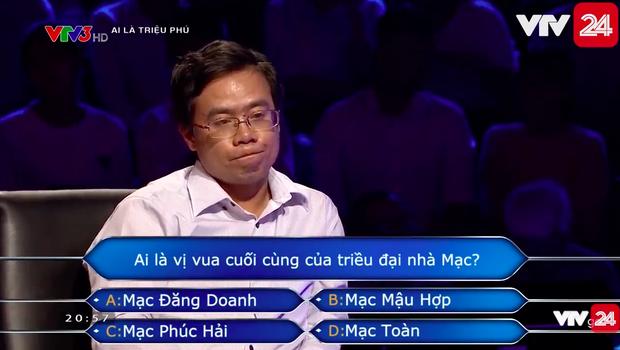 Người chơi số nhọ nhất Ai là triệu phú: Dùng hết cả 4 sự trợ giúp cho một câu hỏi nhưng vẫn trả lời sai - Ảnh 2.