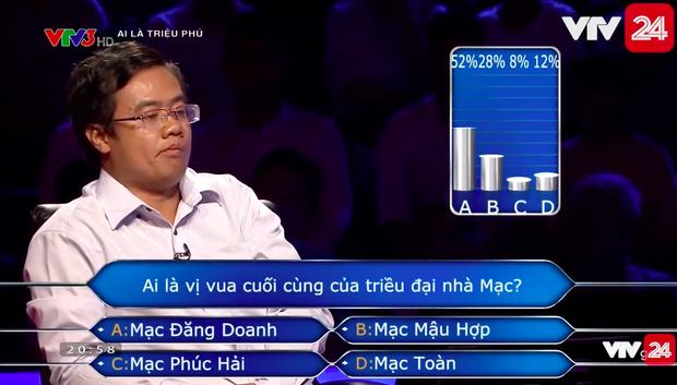 Người chơi số nhọ nhất Ai là triệu phú: Dùng hết cả 4 sự trợ giúp cho một câu hỏi nhưng vẫn trả lời sai - Ảnh 3.