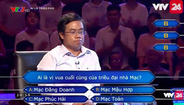Người chơi số nhọ nhất Ai là triệu phú: Dùng hết cả 4 sự trợ giúp cho một câu hỏi nhưng vẫn trả lời sai - Ảnh 4.