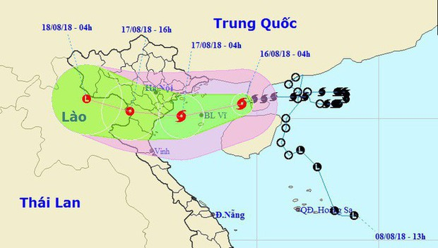 Bão số 4 giật cấp 11 đi vào Vịnh Bắc Bộ, Hà Nội mưa rất to - Ảnh 1.