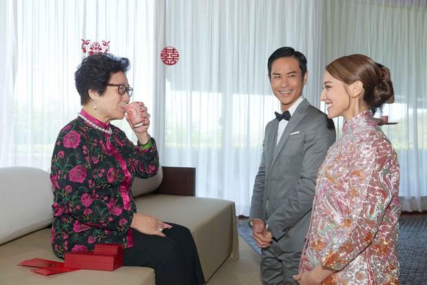 Tài tử TVB kết hôn nhưng điều đáng chú ý chính là nhan sắc tựa nữ thần cùng váy cưới lộng lẫy của cô vợ kém 22 tuổi - Ảnh 7.