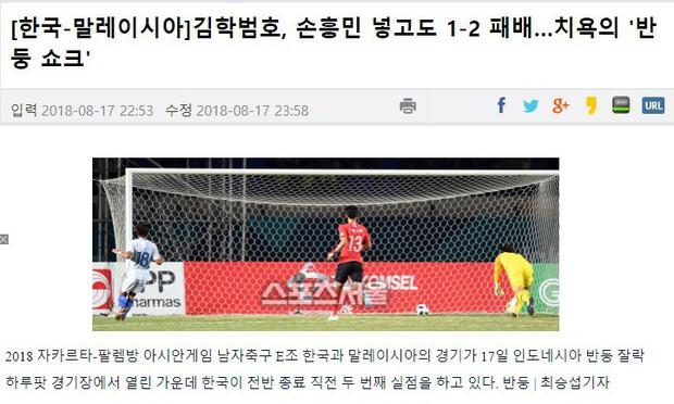 Báo chí Hàn Quốc dùng từ xấu hổ khi nói về trận thua sốc trước Malaysia - Ảnh 1.