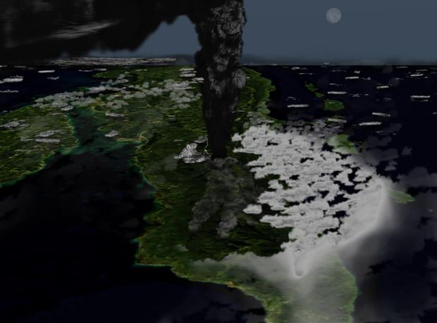 Giả thuyết rợn tóc gáy của vụ phun trào núi lửa Toba suýt chút nữa khiến nhân loại bị diệt vong - Ảnh 1.