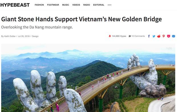 Cầu Vàng ở Đà Nẵng vẫn đang là từ khoá hot nhất trên các trang tin lẫn mạng xã hội quốc tế - Ảnh 10.