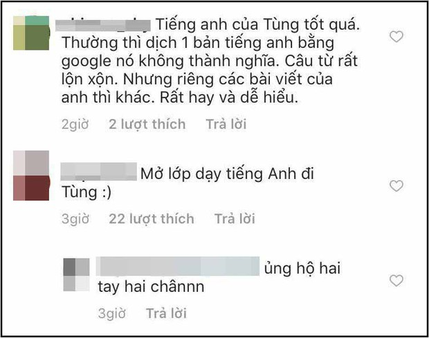 Lần đầu tiên viết status dài ngoằng bằng tiếng Anh, Sơn Tùng khiến fan lập tức rủ nhau đi học ngoại ngữ - Ảnh 2.