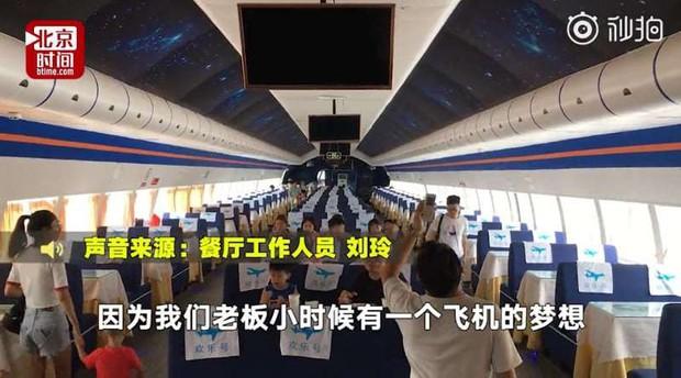 Đại gia Trung Quốc bỏ 30 tỷ đồng để mua nguyên cái máy bay rồi biến thành nhà hàng, thực hiện giấc mơ từ thuở bé - Ảnh 2.