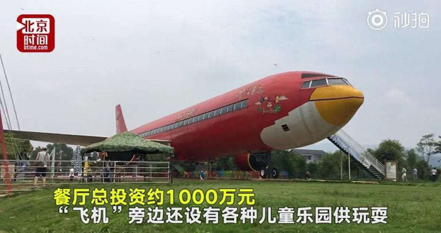 Đại gia Trung Quốc bỏ 30 tỷ đồng để mua nguyên cái máy bay rồi biến thành nhà hàng, thực hiện giấc mơ từ thuở bé - Ảnh 1.