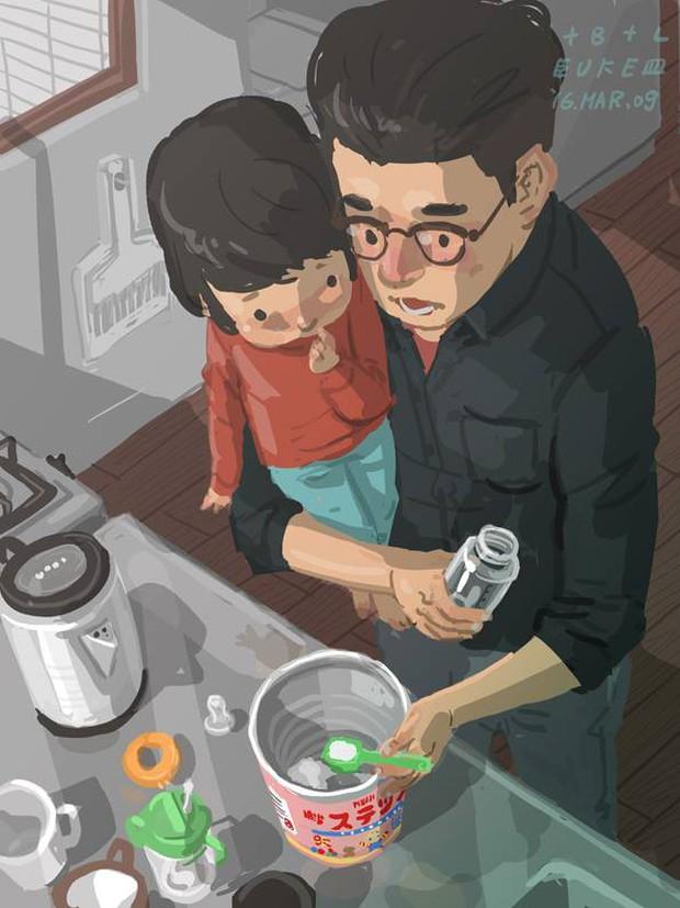 Bộ tranh cha và con trai đầy cảm xúc mà bất cứ ông bố trẻ nào cũng thấy mình trong đó - Ảnh 10.