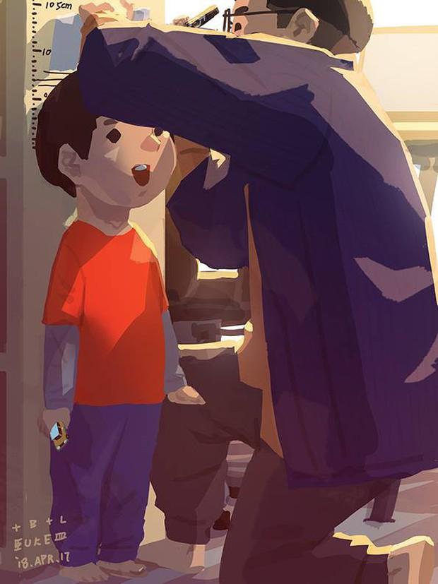 Bộ tranh cha và con trai đầy cảm xúc mà bất cứ ông bố trẻ nào cũng thấy mình trong đó - Ảnh 12.
