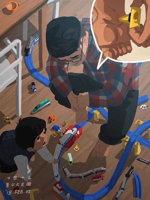 Bộ tranh cha và con trai đầy cảm xúc mà bất cứ ông bố trẻ nào cũng thấy mình trong đó - Ảnh 14.