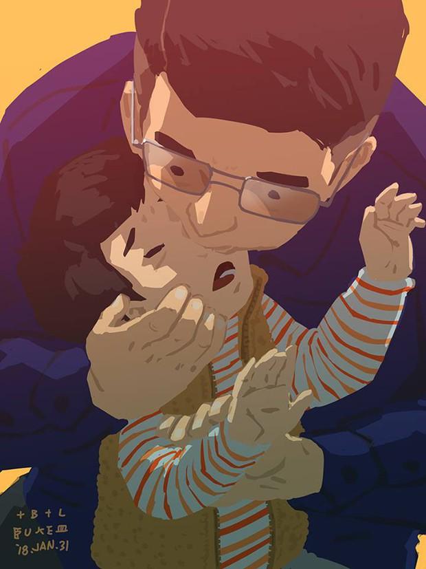 Bộ tranh cha và con trai đầy cảm xúc mà bất cứ ông bố trẻ nào cũng thấy mình trong đó - Ảnh 18.