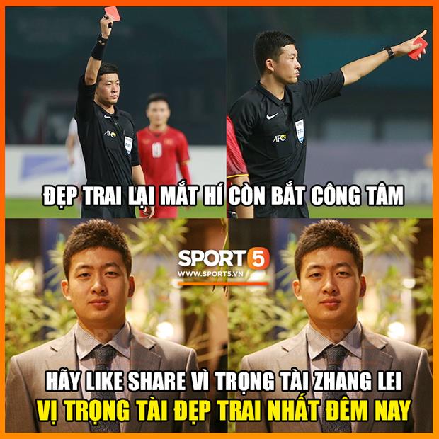 Info trọng tài người Trung Quốc đẹp trai nhất trận Việt Nam - Bahrain tối qua - Ảnh 1.